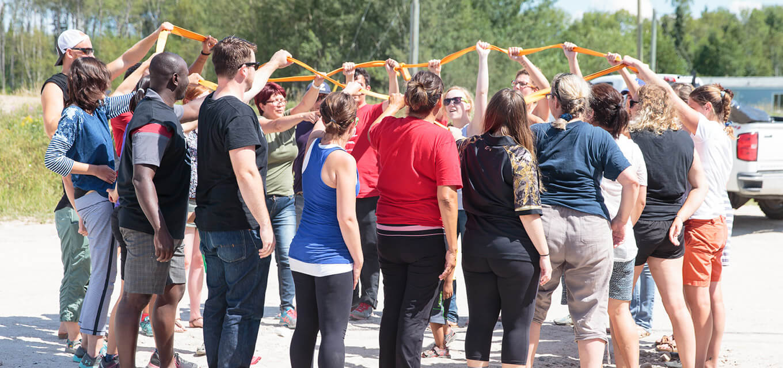 Teachers participating in leadership activities at Summer Enrichment Program
