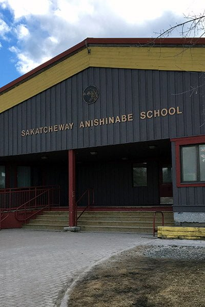 Exterior school photo in Grassy Narrows First Nation