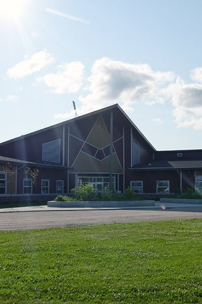 Exterior school photo in la Seul First Nation