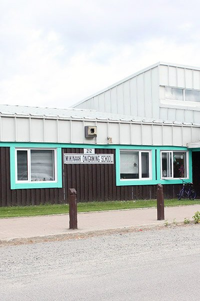 Exterior school photo in Ojibways of Onigaming First Nation