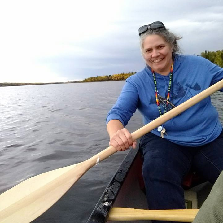 Debbie Canoeing in Poplar Hill First Nation