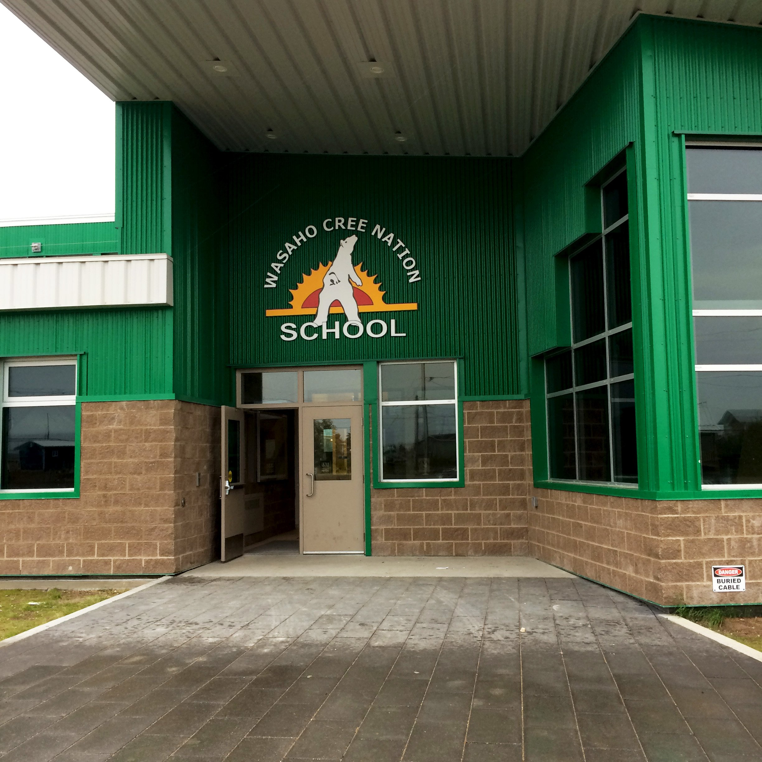 Entrance to Wasaho Cree Nation school