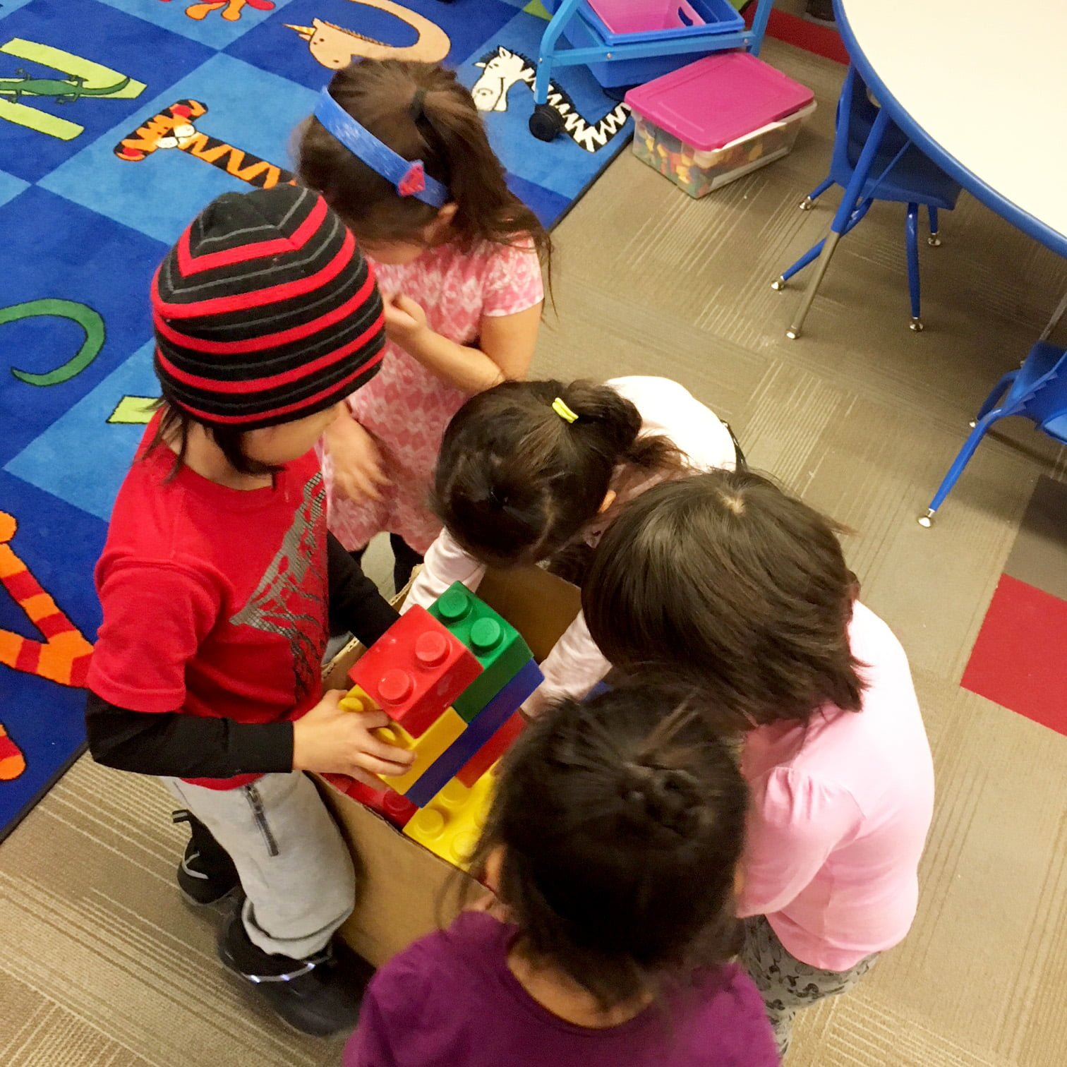 Kids learn through play in Kurtis's class