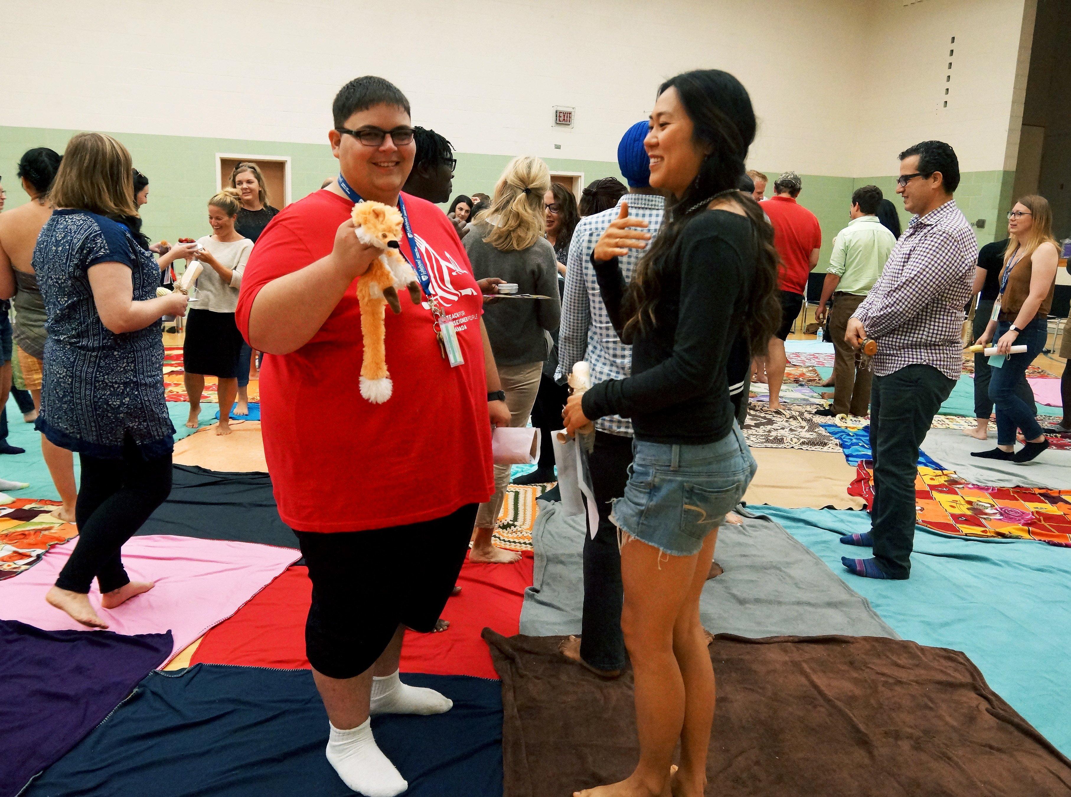 Matt Fairley during the KAIROS Blanket Exercise at the Summer Enrichment Program
