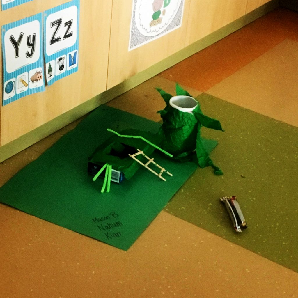 Students learn about structures by building Leprechaun traps