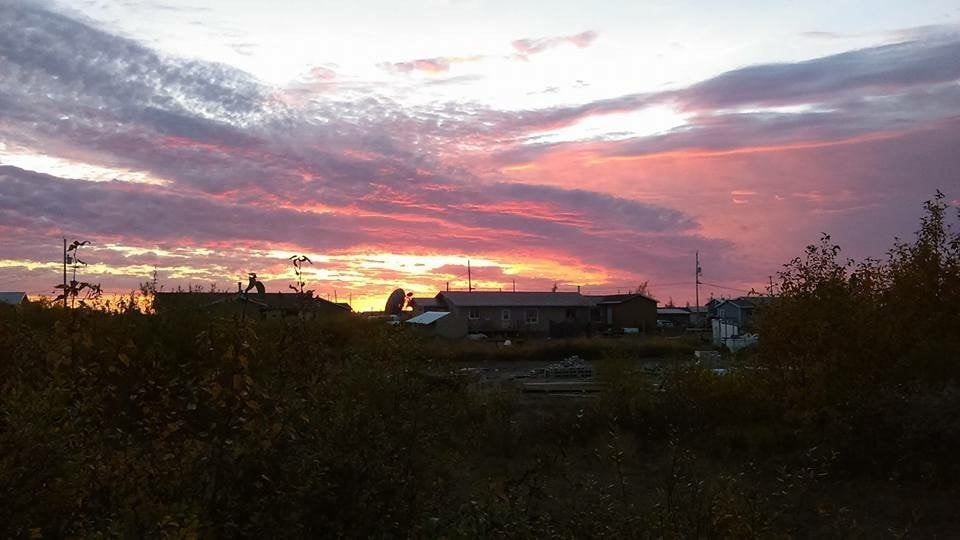 A beautiful sunrise in Fort Severn First Nation