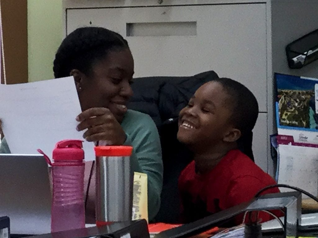 Teach For Canada teacher Aissa and her son TJ