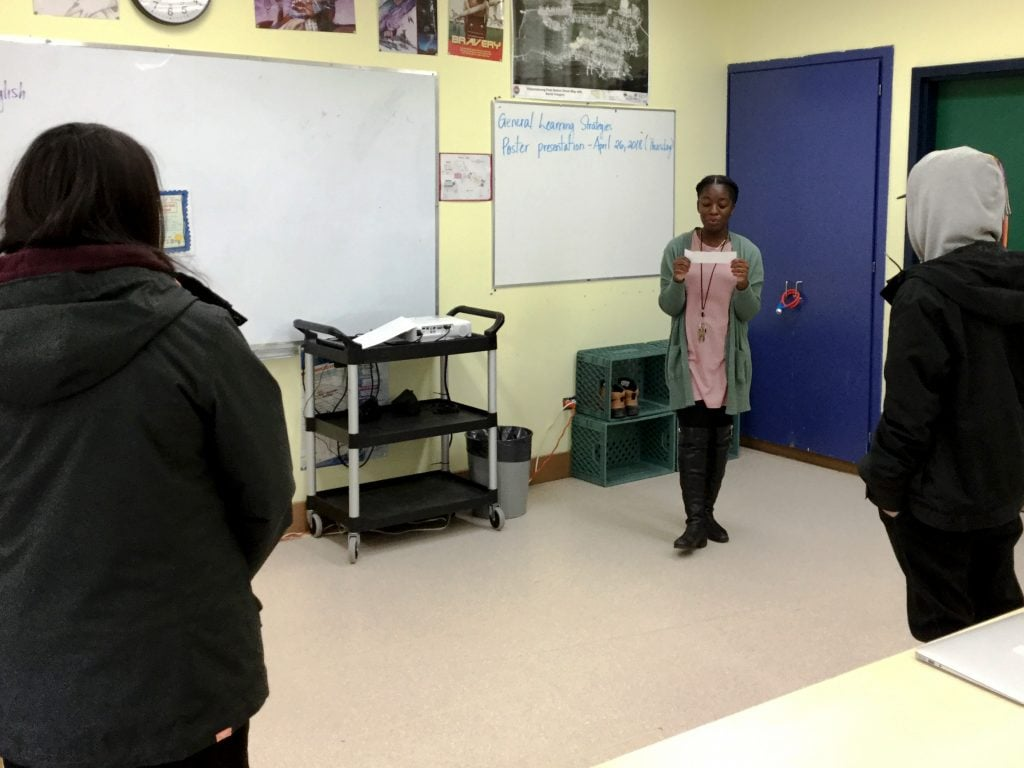 Aissa teaching in Eabametoong First Nation