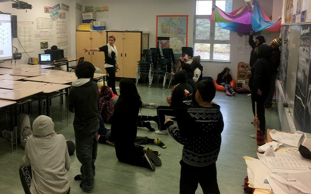"Teach For Canada's Erica O""Reilly teaching"