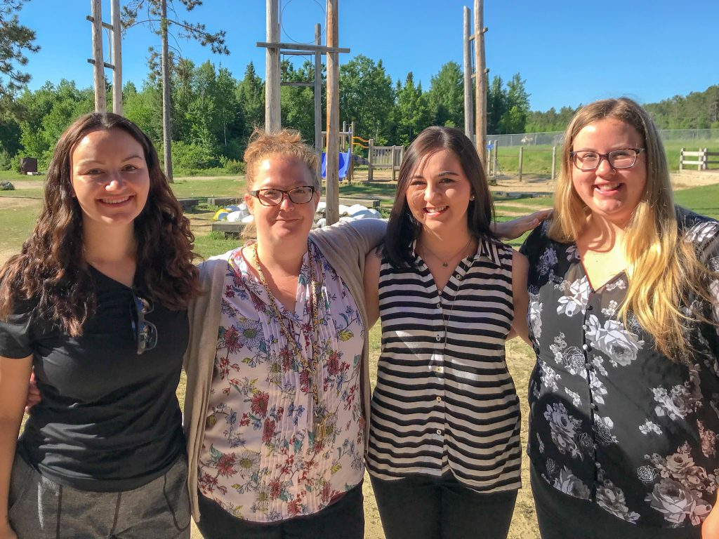 Teach For Canada's Nicole Pereira, ALisha Hill, Ashley Vandenberg, and Andrea Girt