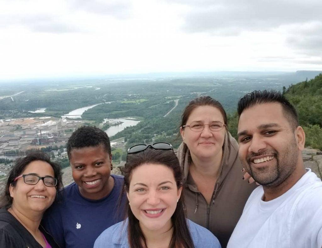 Teach For Canada teachers on a hike