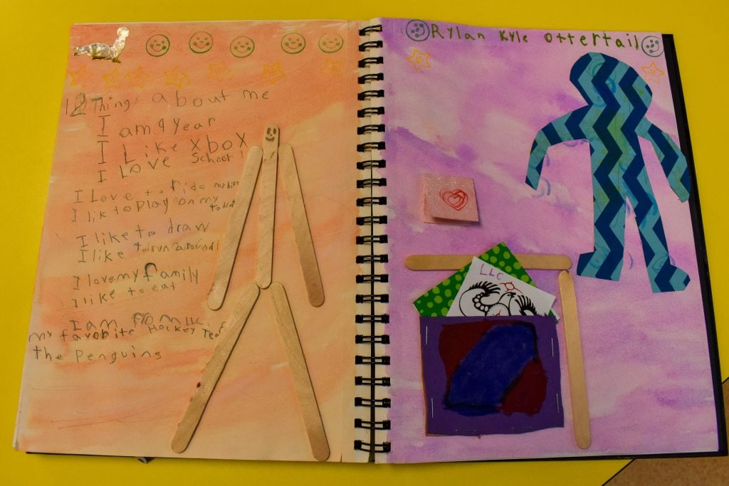 Students write in their visual journals in a way that flows more naturally from their work