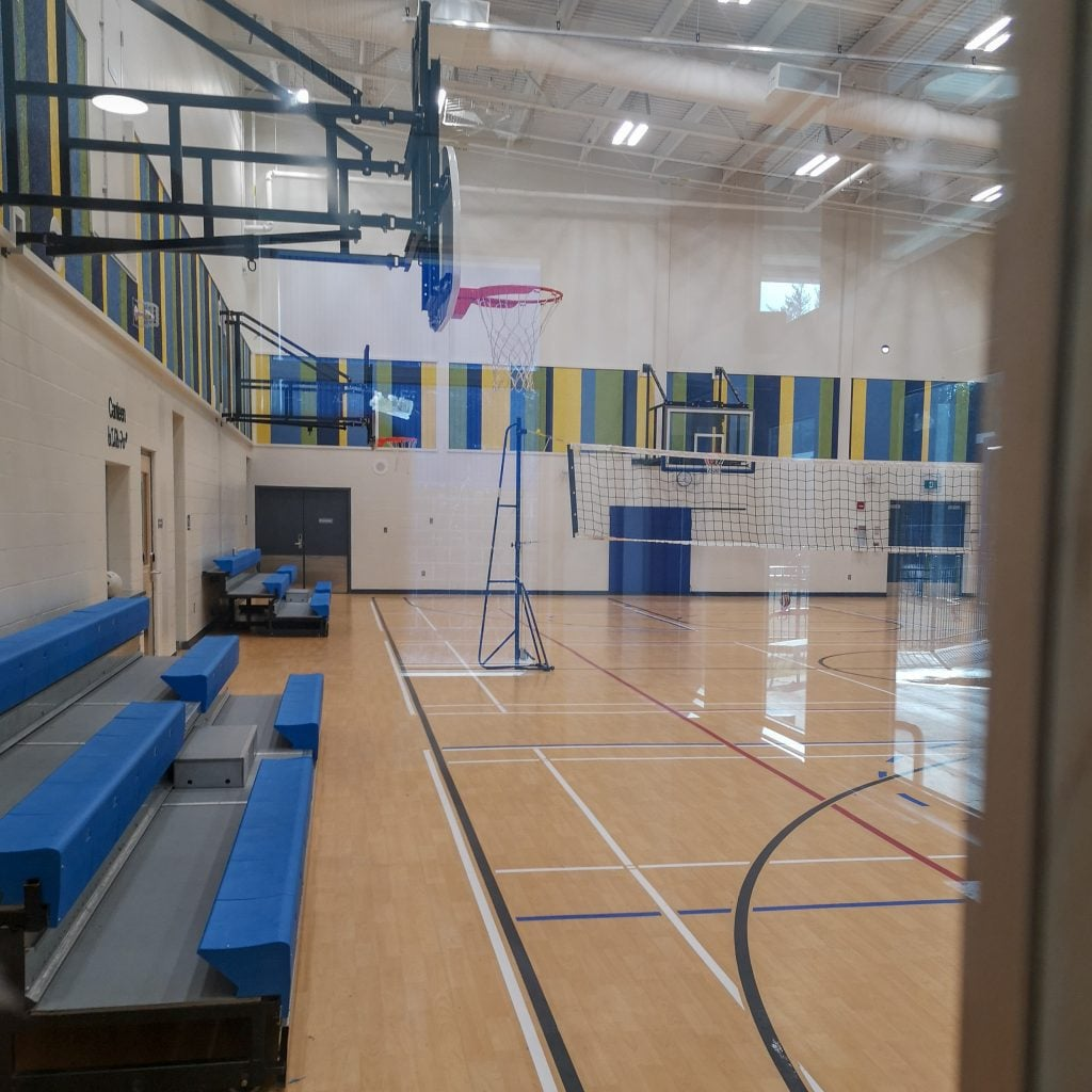 School gym at Ahgwahbuush Memorial School