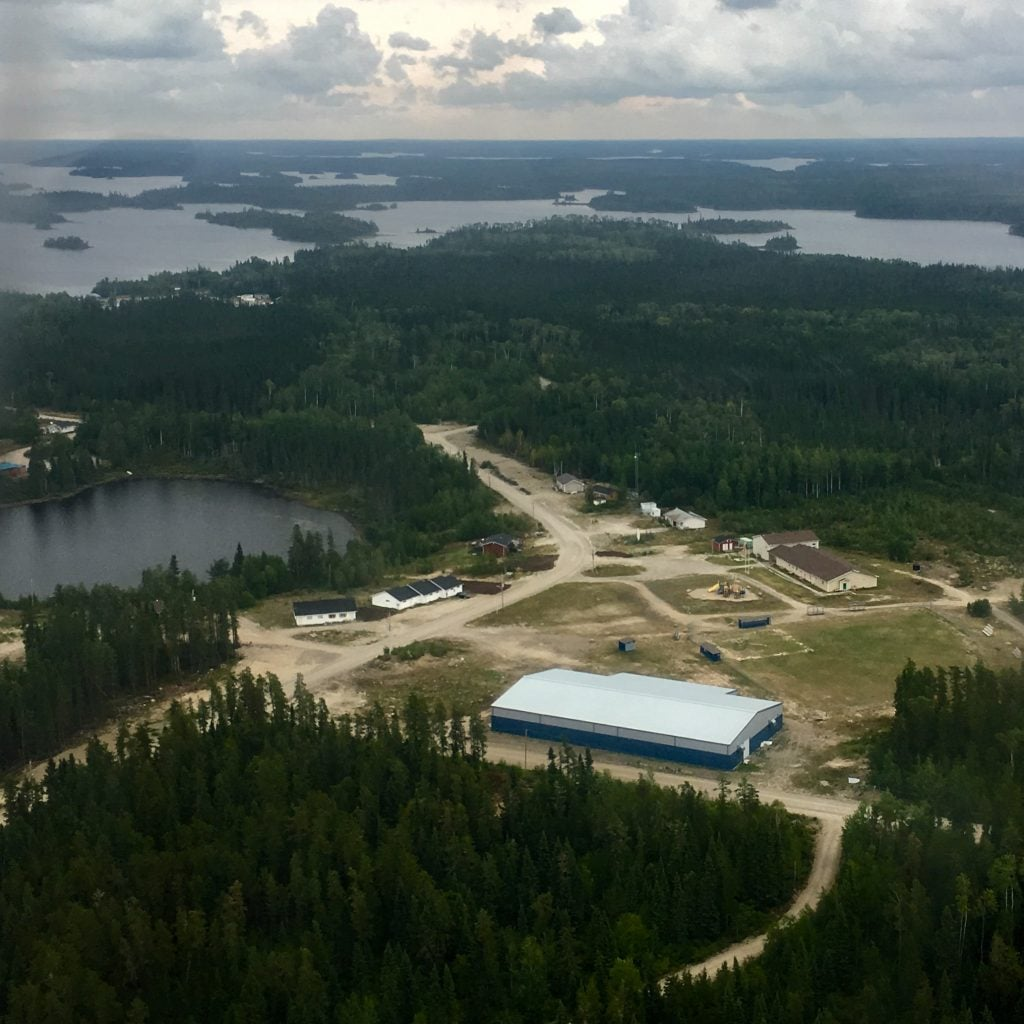 Aerial view of Slate Falls Nation