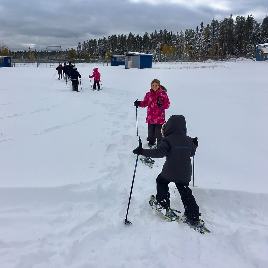 Snowshoeing in Slate Falls