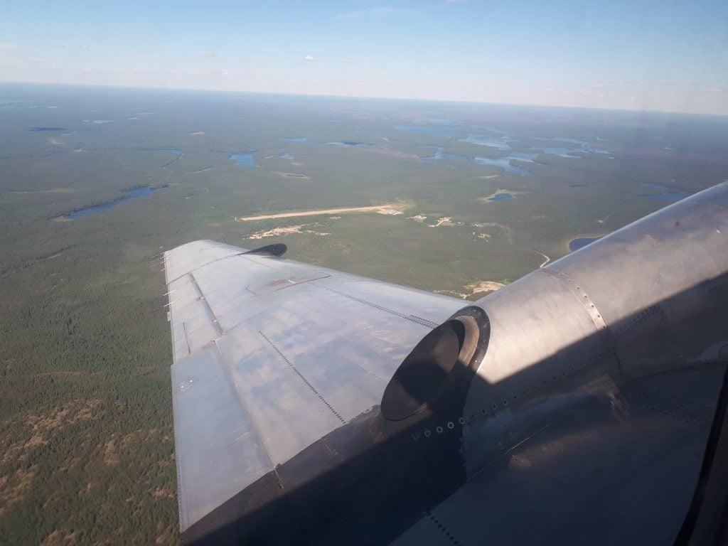 Aerial view of Deer Lake