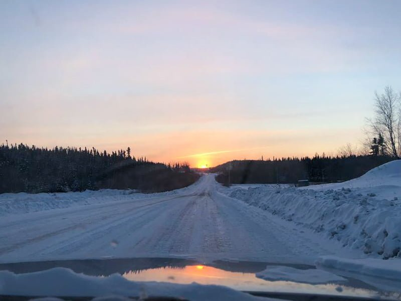 Sunset in Deer Lake First Nation