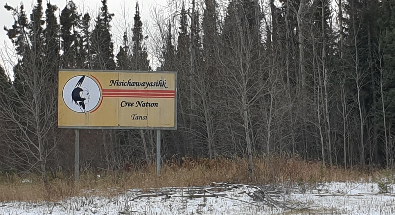 Sign of Nisichawayasihk Cree Nation
